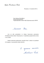 Letter of Participation from Madam Duda